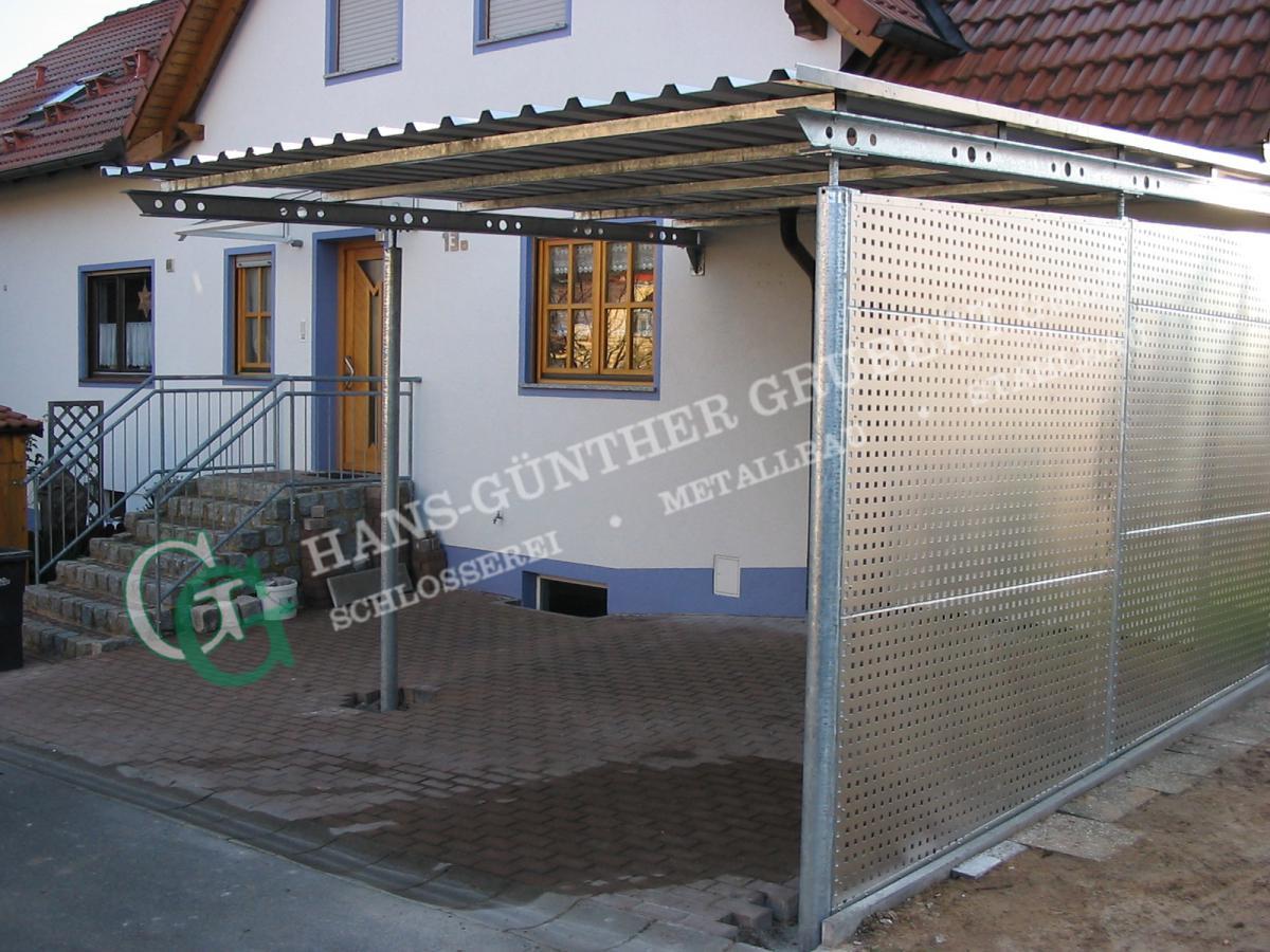 carports metallbau hans g nther grubert gmbh bamberg hallstadt. Black Bedroom Furniture Sets. Home Design Ideas